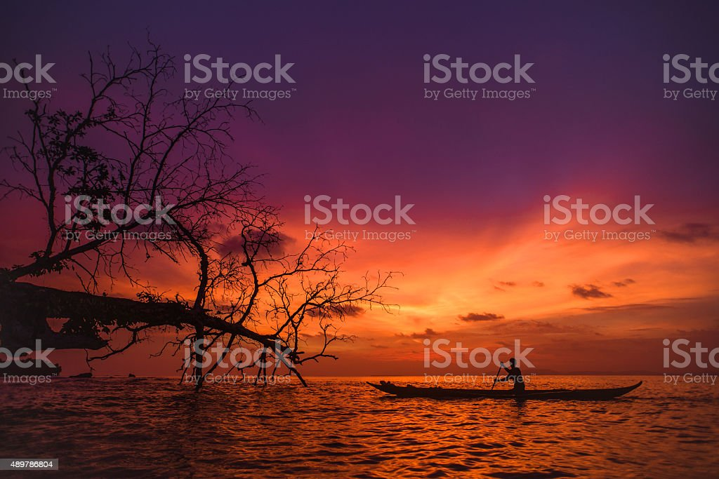 Indonesian Sunset stock photo