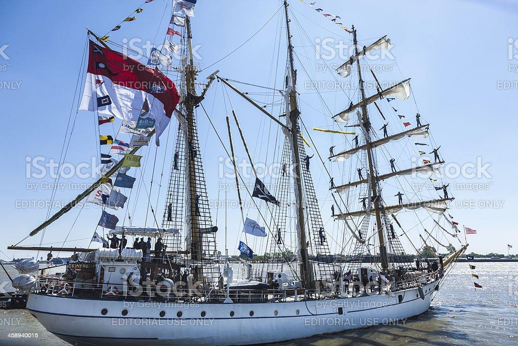 Indonesian Tall Ship Dewaruci stock photo