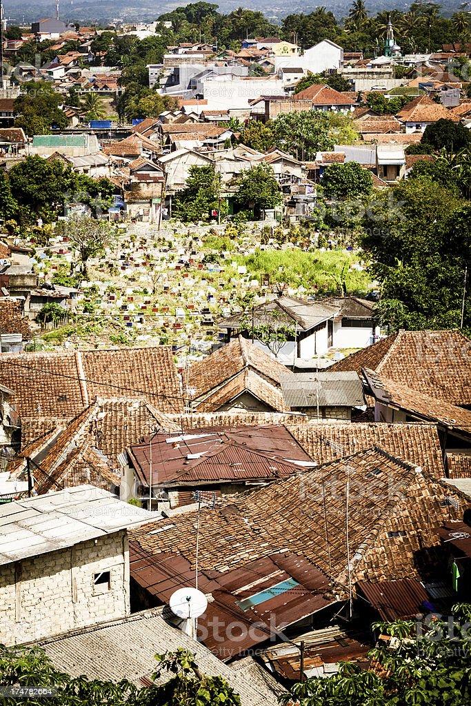 Indonesian Village of Bogor, Central Java stock photo