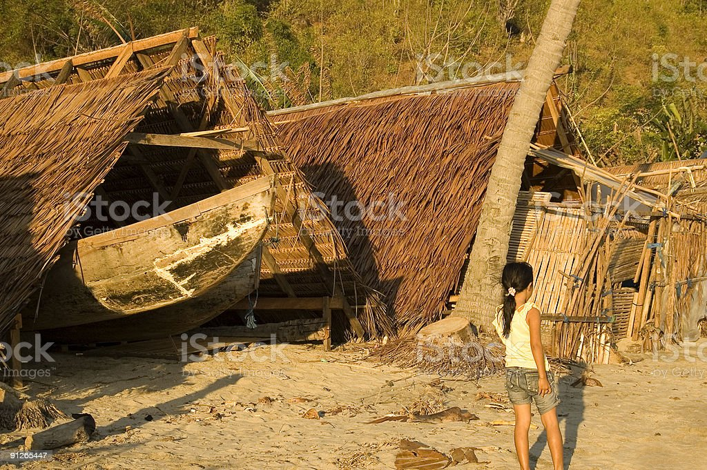 Indonesian village royalty-free stock photo
