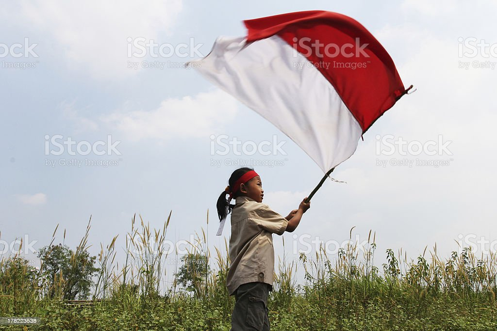 Indonesia's independence day stock photo
