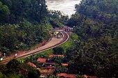 Indonesia's natural panorama in the hills Tumiyang, Banyumas.