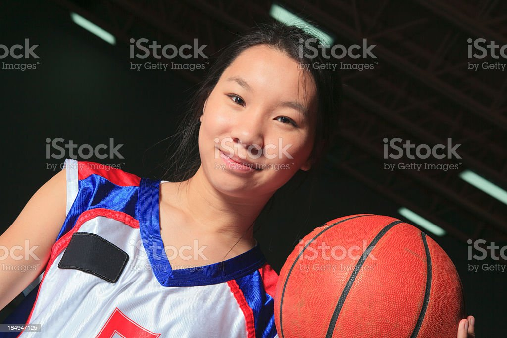 Indoor Arena Basketball - Determination royalty-free stock photo