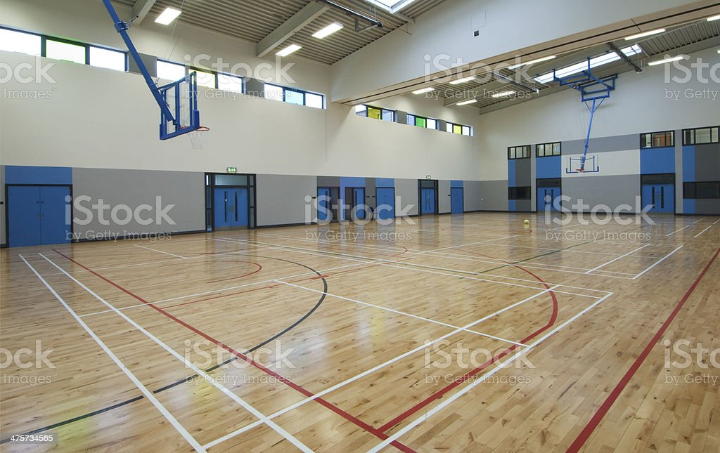 Indoor Basketball Sports Hall stock photo