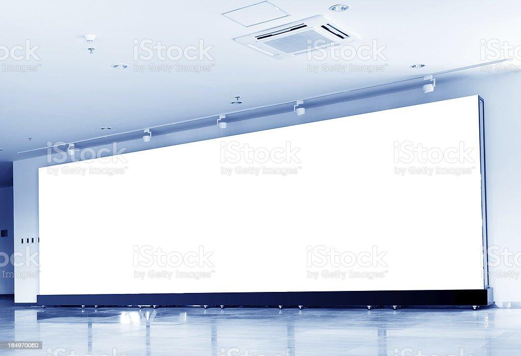 Indoor billboards stock photo