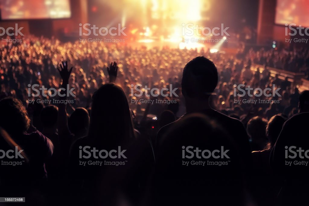 Indoor Concert stock photo