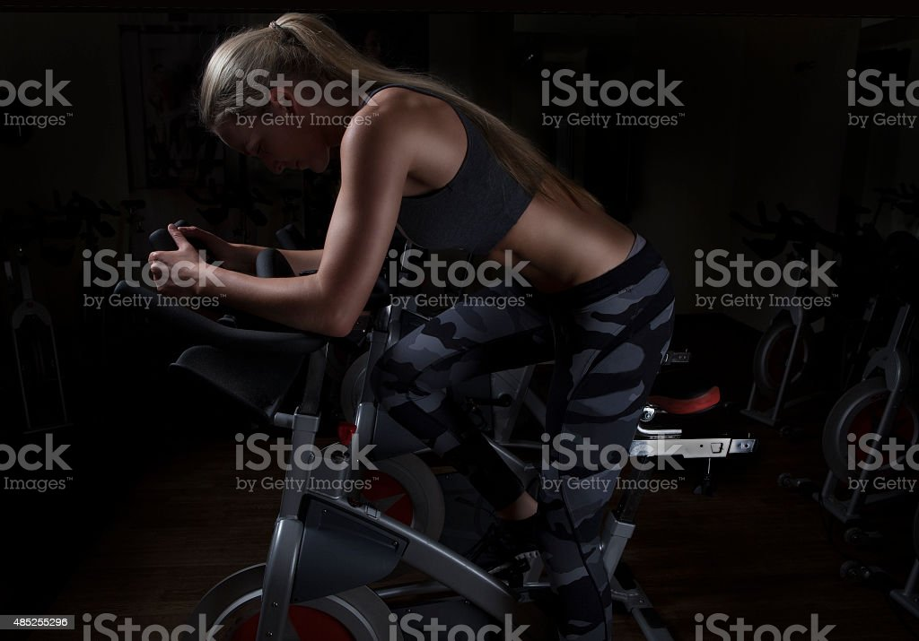 Indoor Cycling stock photo