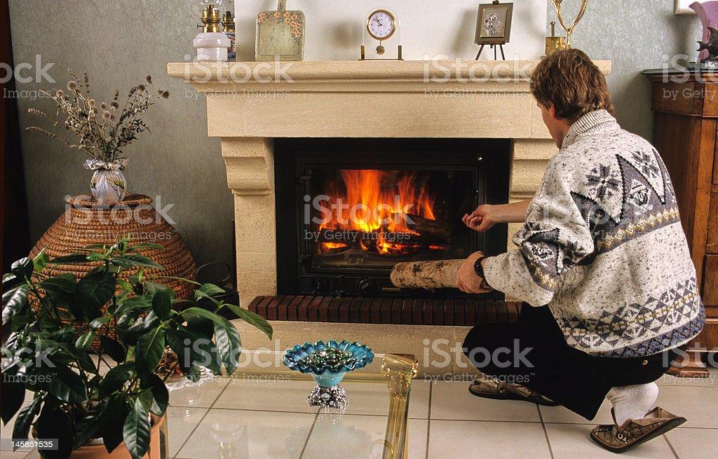 cheminée d'intérieur royalty-free stock photo