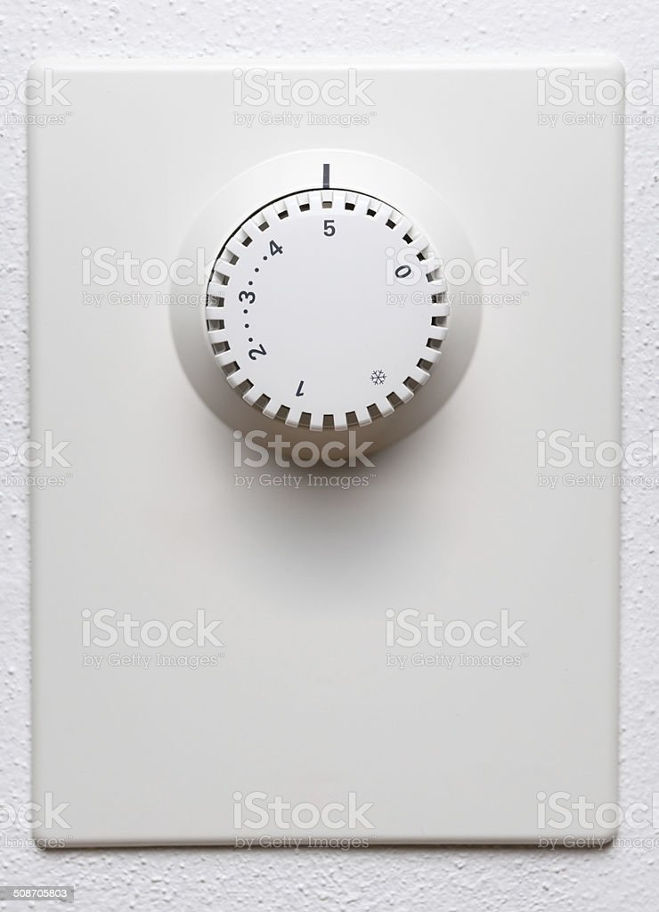 Indoor Heating Thermometer Control stock photo