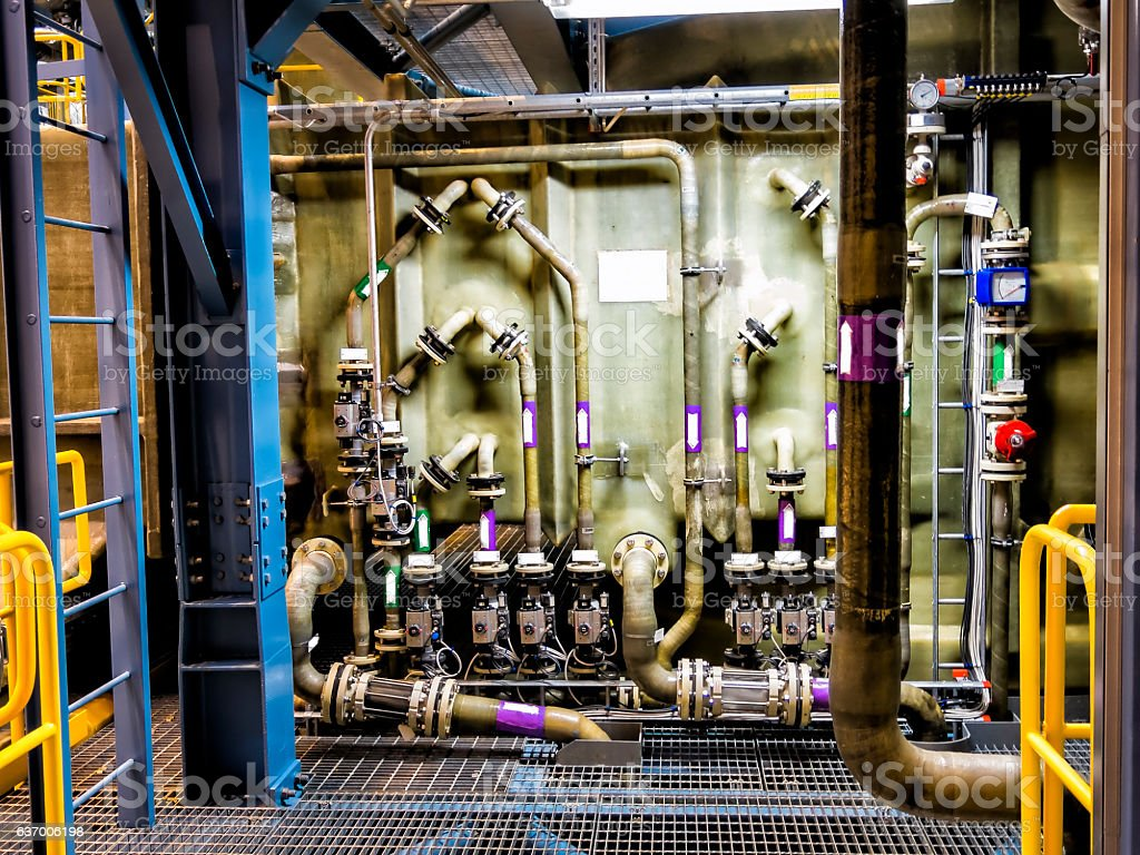 Industrial interior stock photo