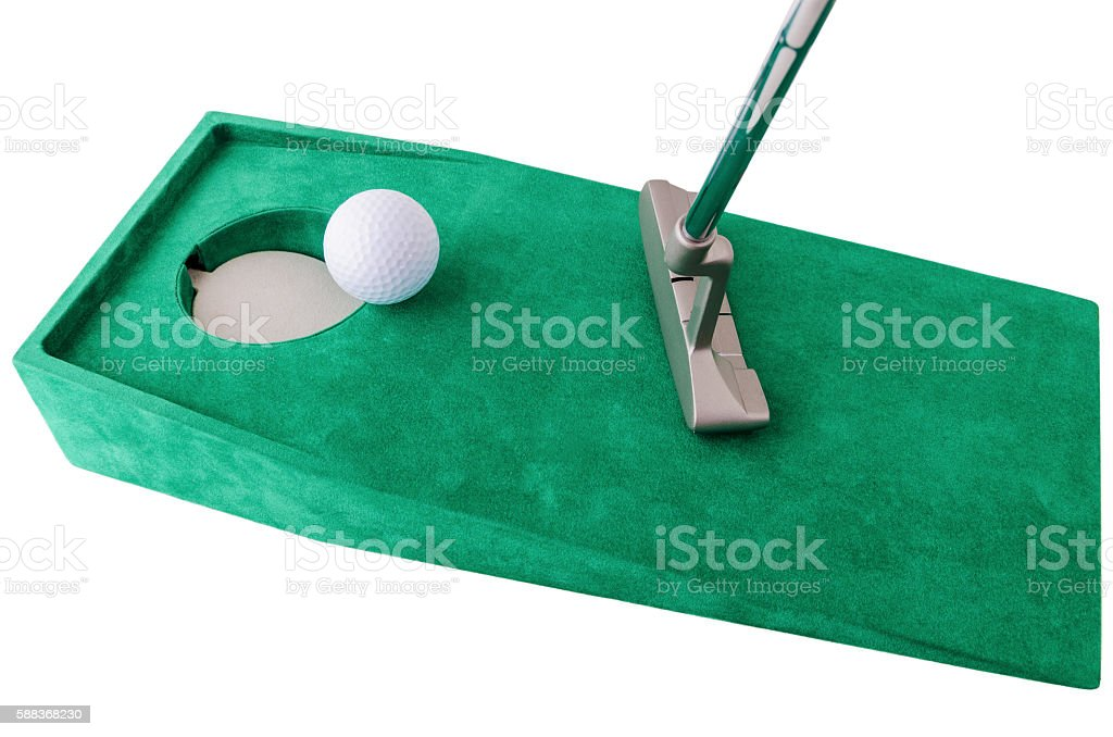 indoor mini golf stock photo