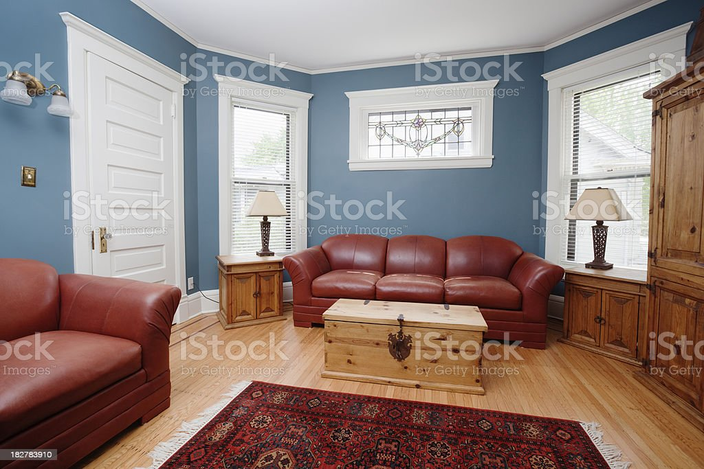 Indoor Paint Featured in Residential Indoor Home Interior Living Room royalty-free stock photo