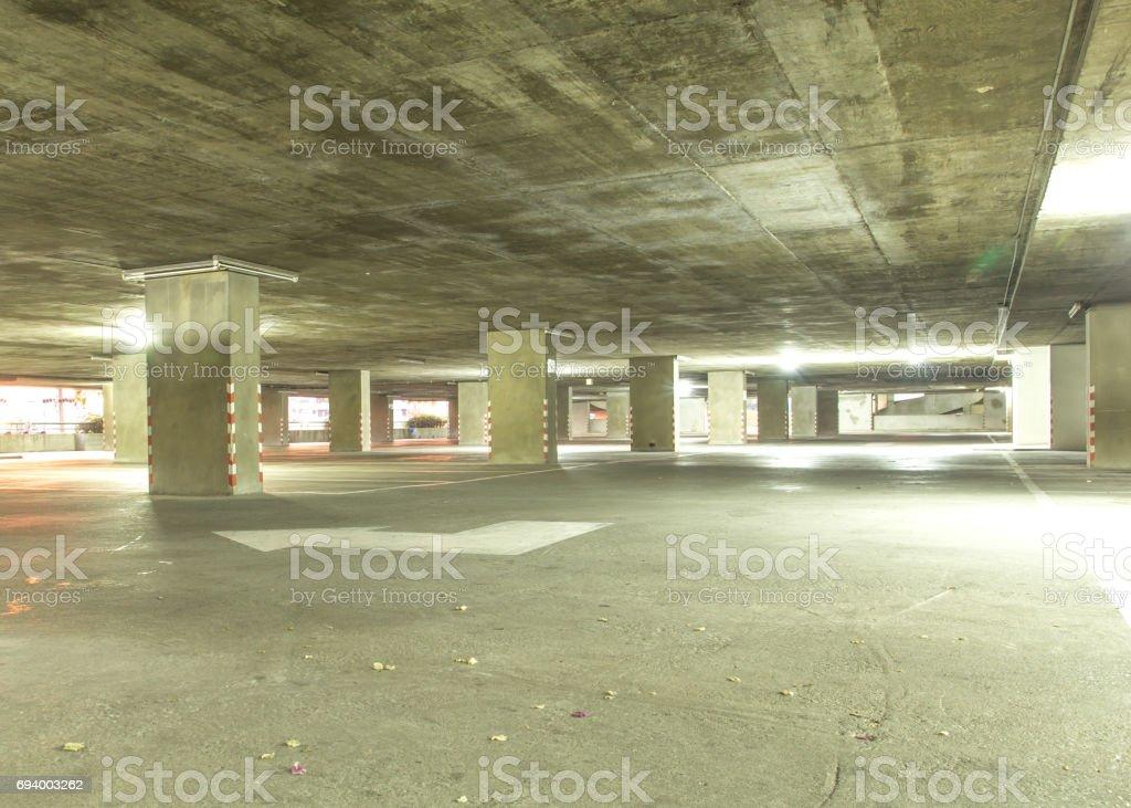 Indoor parking cars stock photo