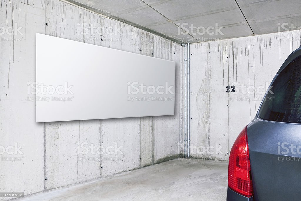 Indoor parking space royalty-free stock photo