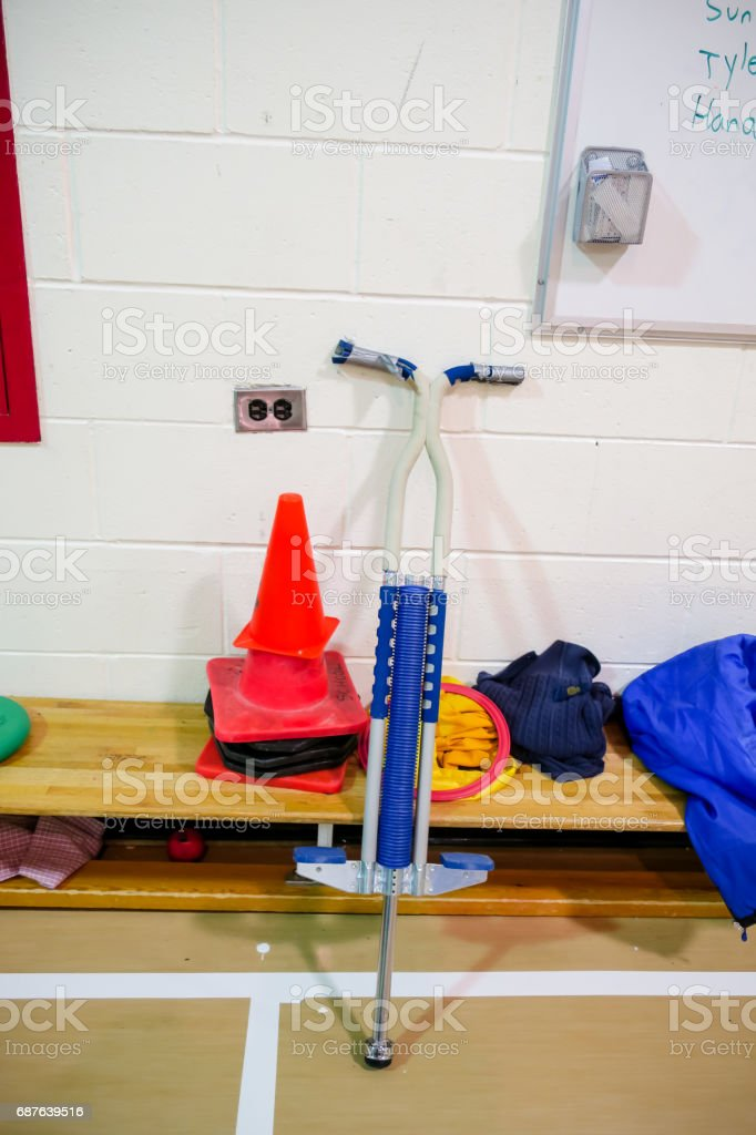 Indoor pogo stock photo