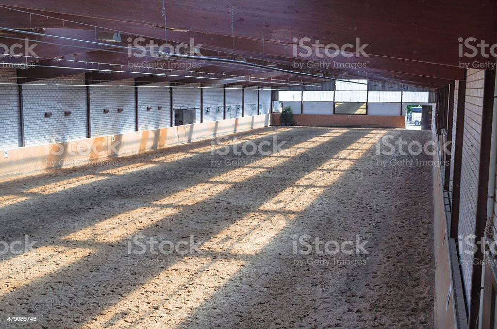Indoor riding arena stock photo
