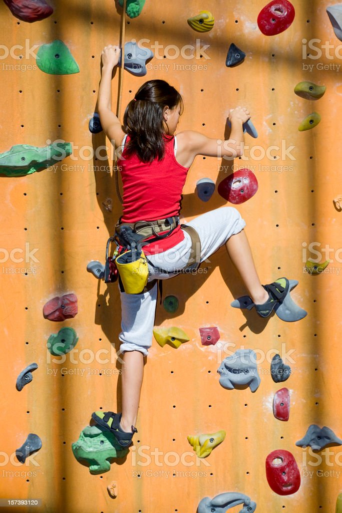 Indoor Rock Climber royalty-free stock photo