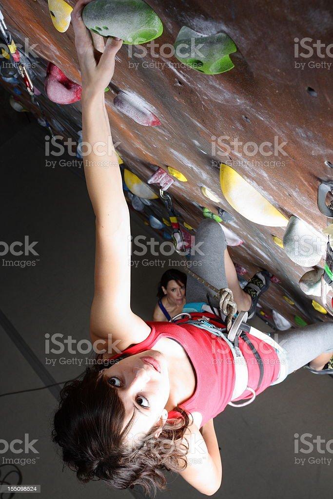 Indoor Rock Climbing royalty-free stock photo