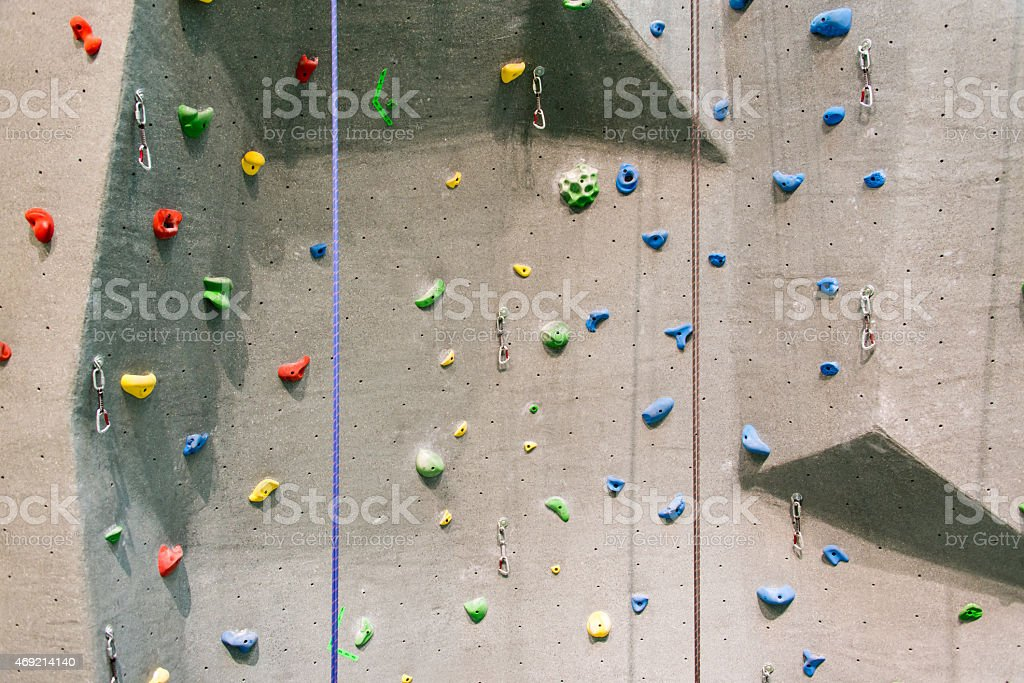Indoor Rock Climbing Wall stock photo