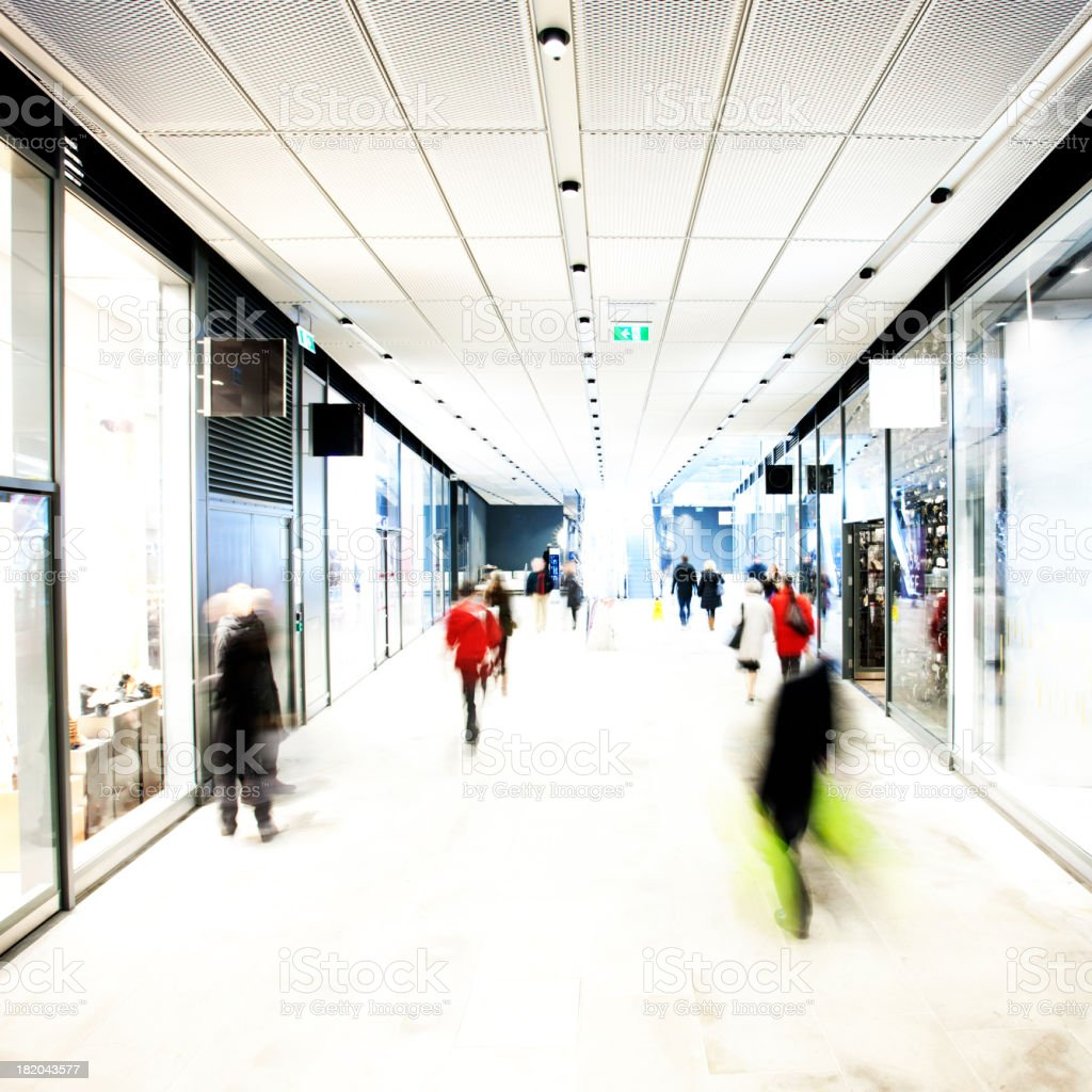 Indoor shopping centre royalty-free stock photo