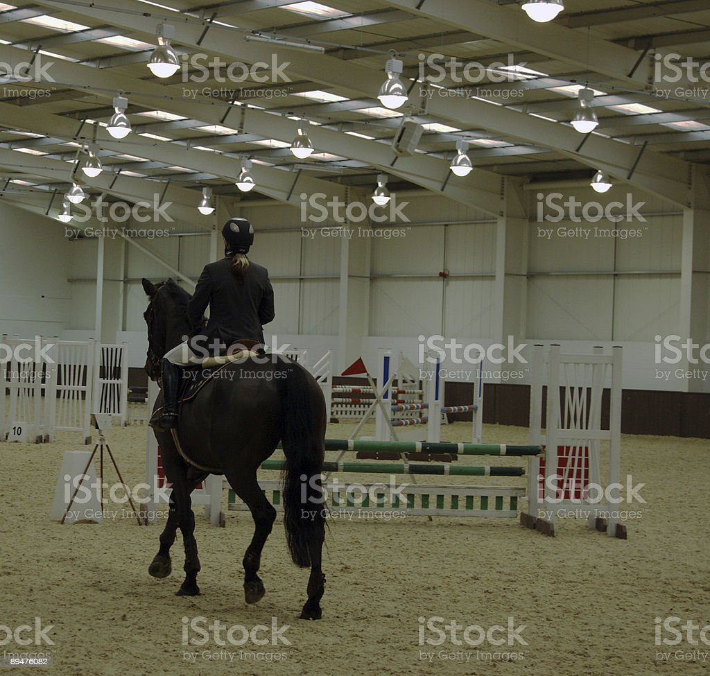 Indoor showjumping arena royalty-free stock photo