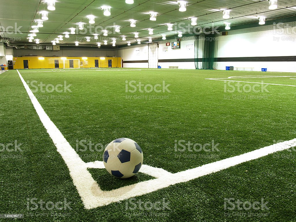 indoor soccer field royalty-free stock photo