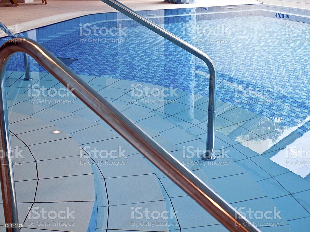 Indoor swimming pool interior royalty-free stock photo