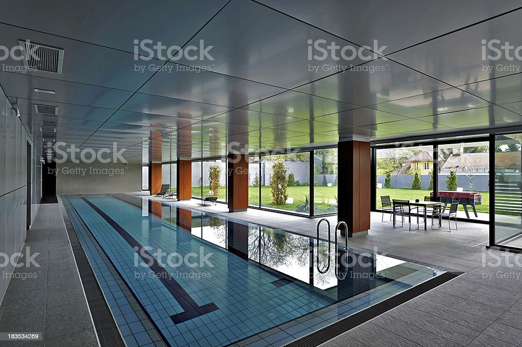 Indoor swimming pool royalty-free stock photo
