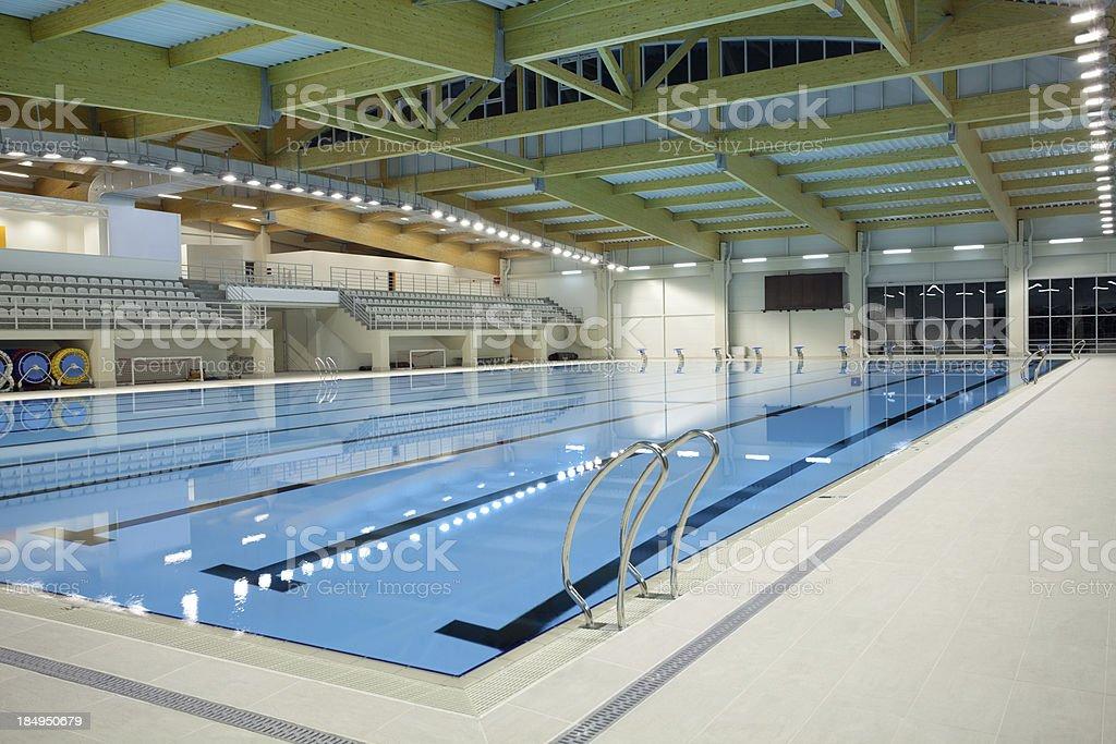 Indoor swimming pool stock photo
