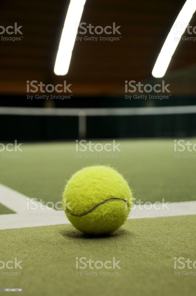 Indoor tennis ball out royalty-free stock photo