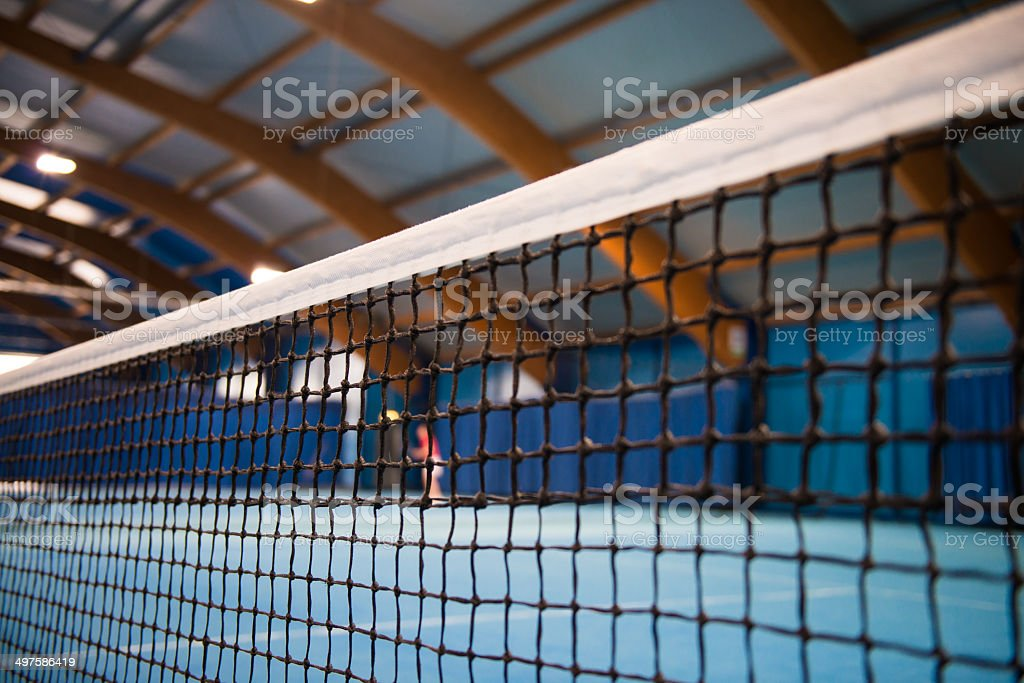 Indoor Tennis Net stock photo