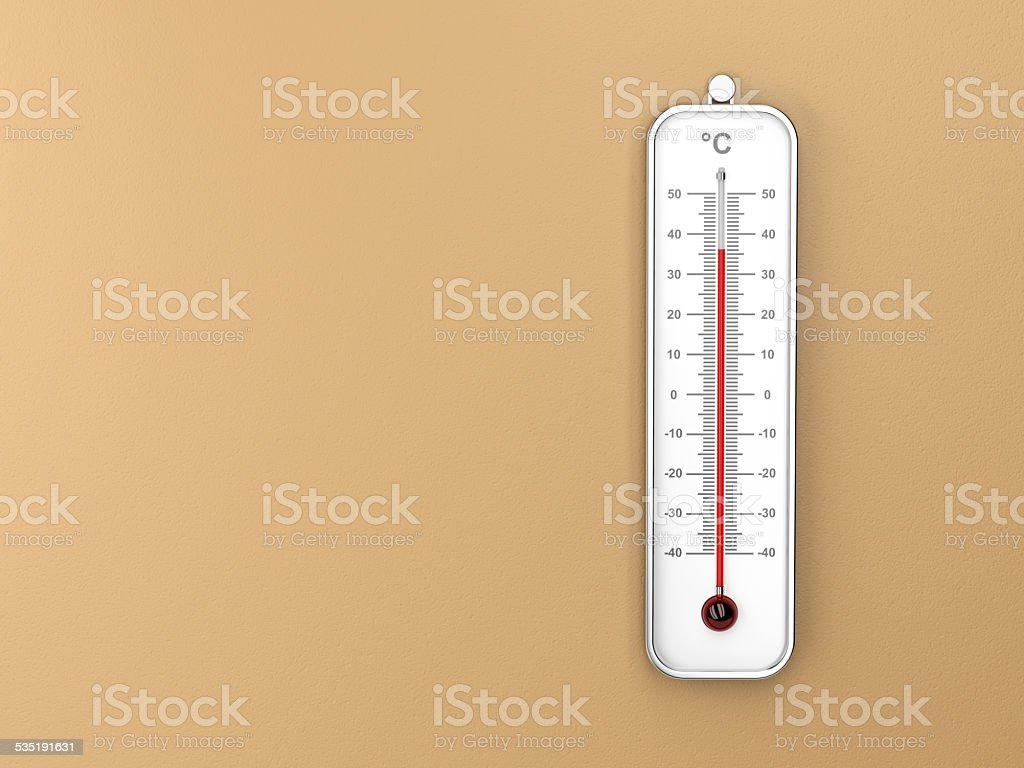 Indoor thermometer stock photo