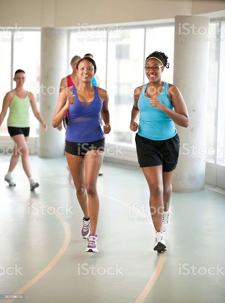 Indoor track royalty-free stock photo