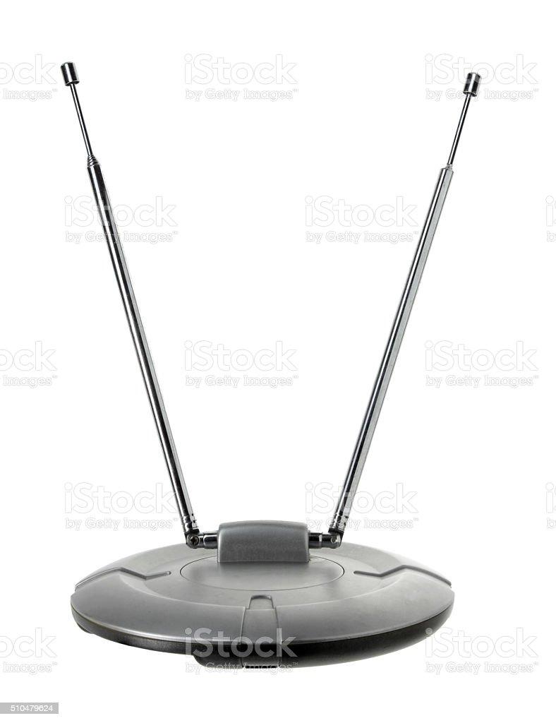 Indoor TV Antenna stock photo