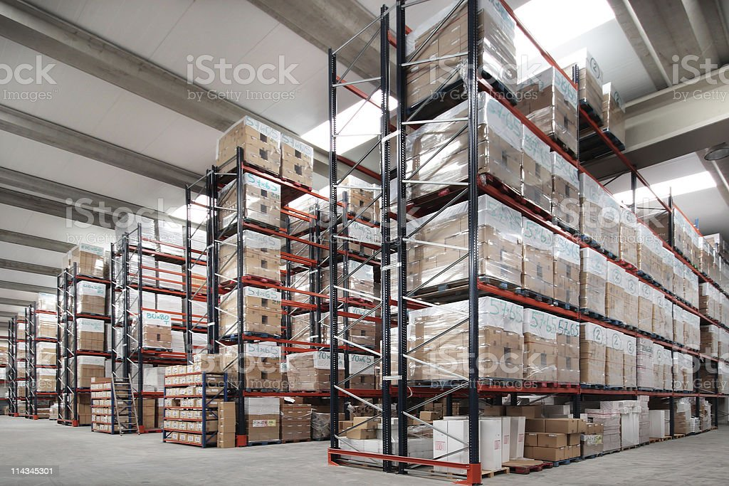 Indoor warehouse royalty-free stock photo
