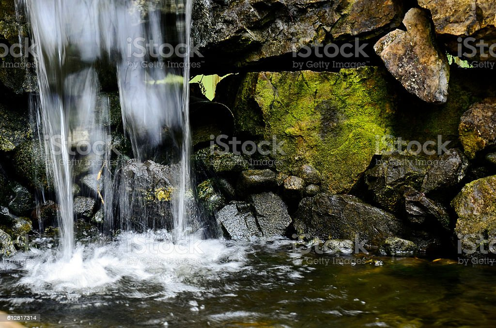 Indoor Waterfall stock photo