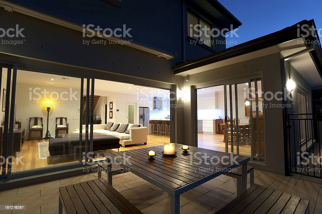 Indoor-outdoor living stock photo