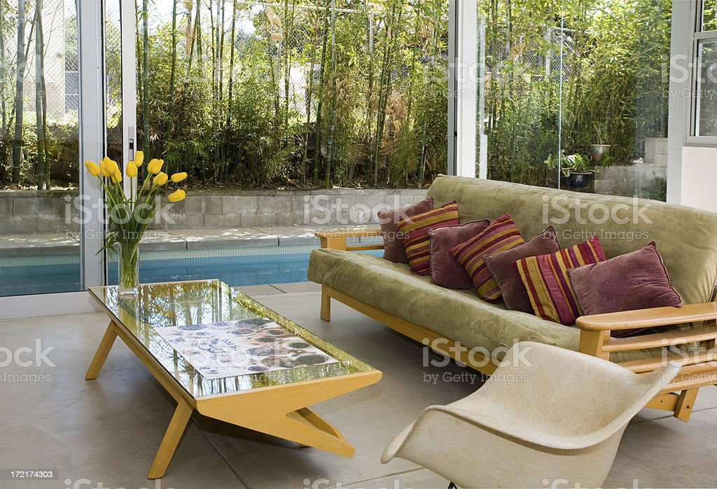 Indoor/Outdoor Living Room royalty-free stock photo