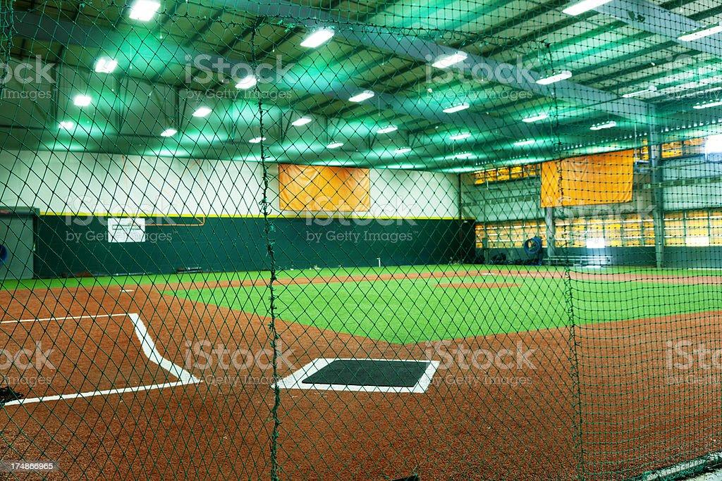 Indoors Baseball Court royalty-free stock photo