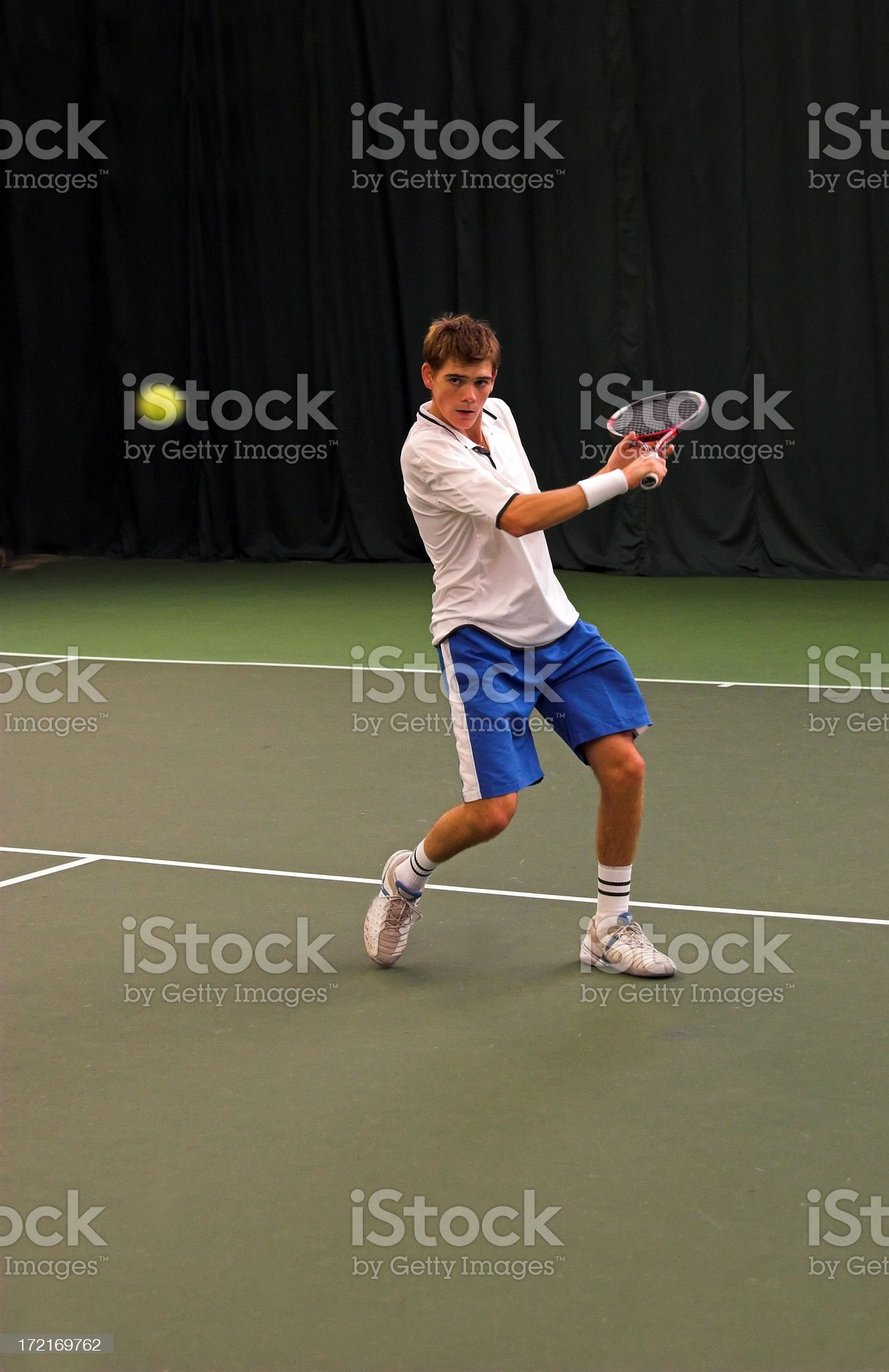 Indoors tennis match royalty-free stock photo