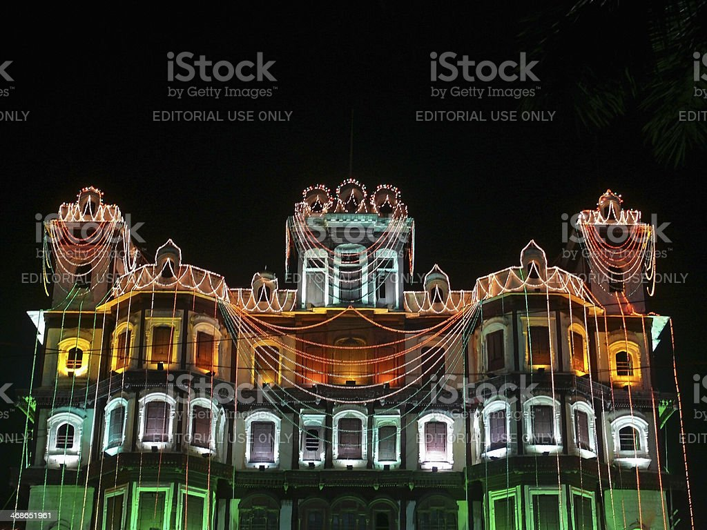 Indore Palace stock photo