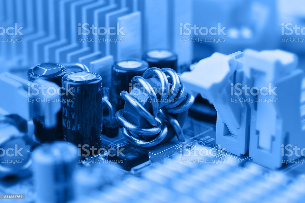 Inductor coil stock photo