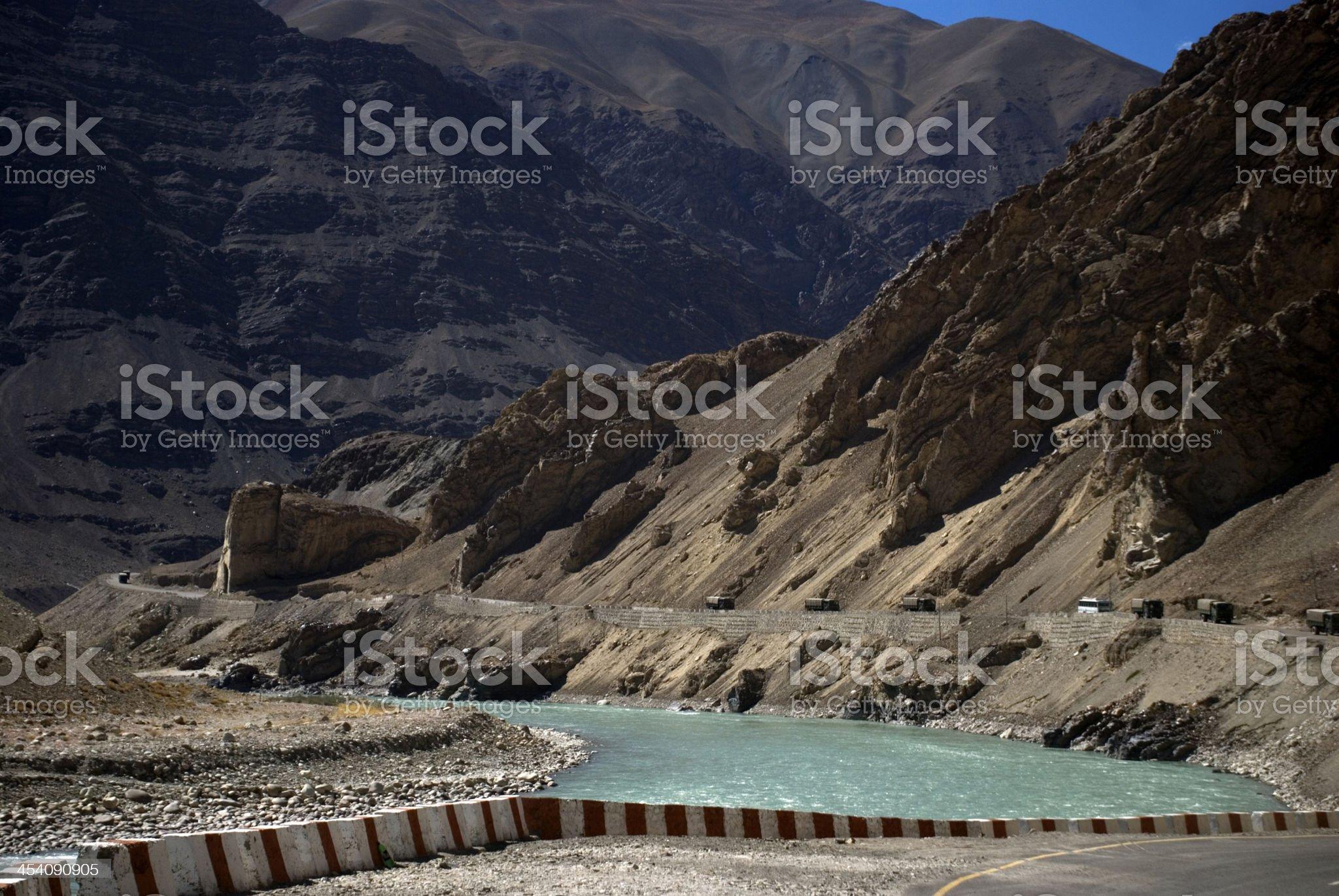 Indus River, Alchi, Ladakh, India royalty-free stock photo