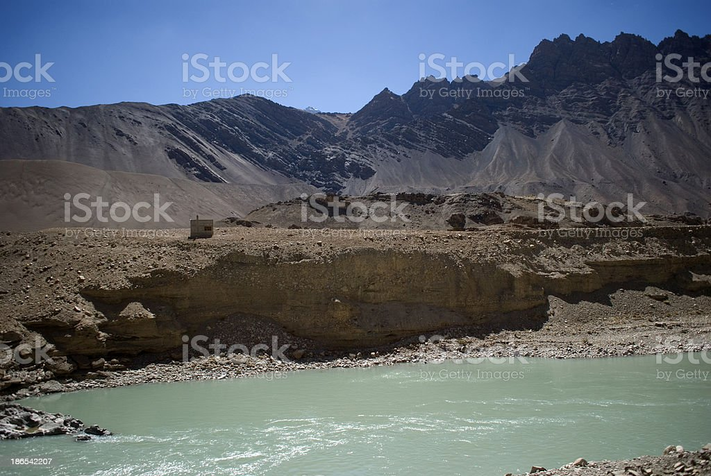 Indus River, Ladakh, India royalty-free stock photo
