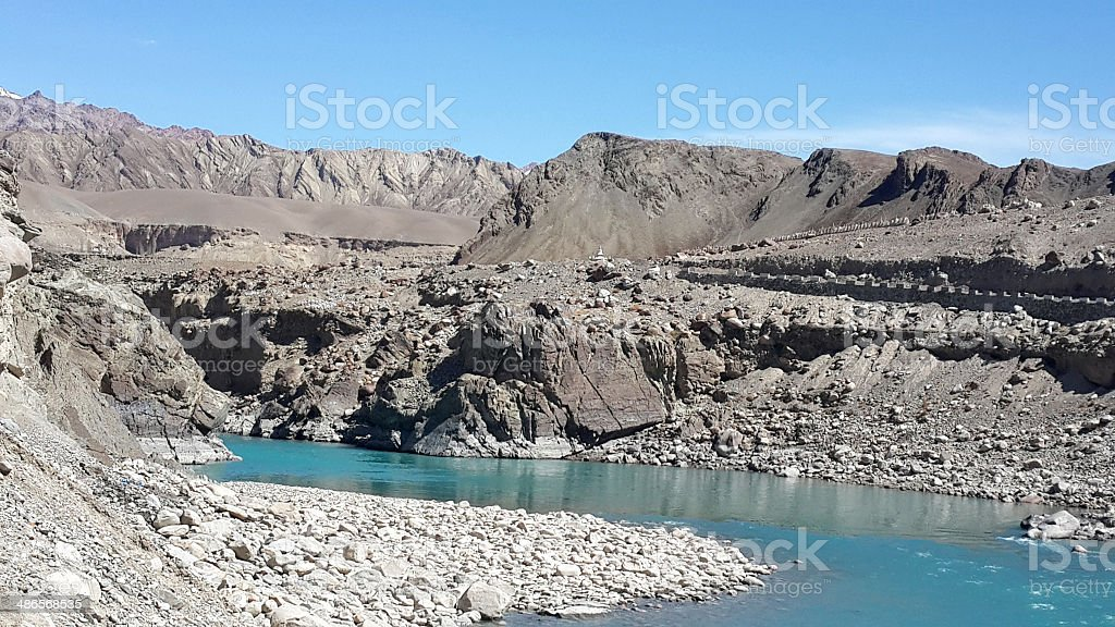 Indus river royalty-free stock photo