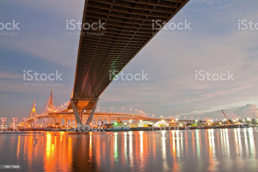 Industrail circle bridge, Thailand royalty-free stock photo