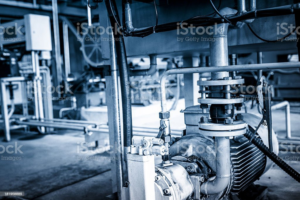 Industrial abstract---details of factory machine royalty-free stock photo