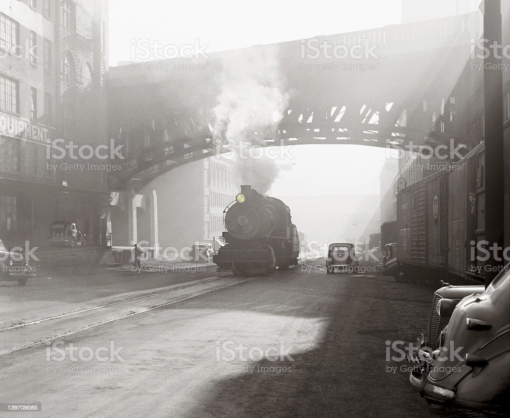 Industrial age scene stock photo