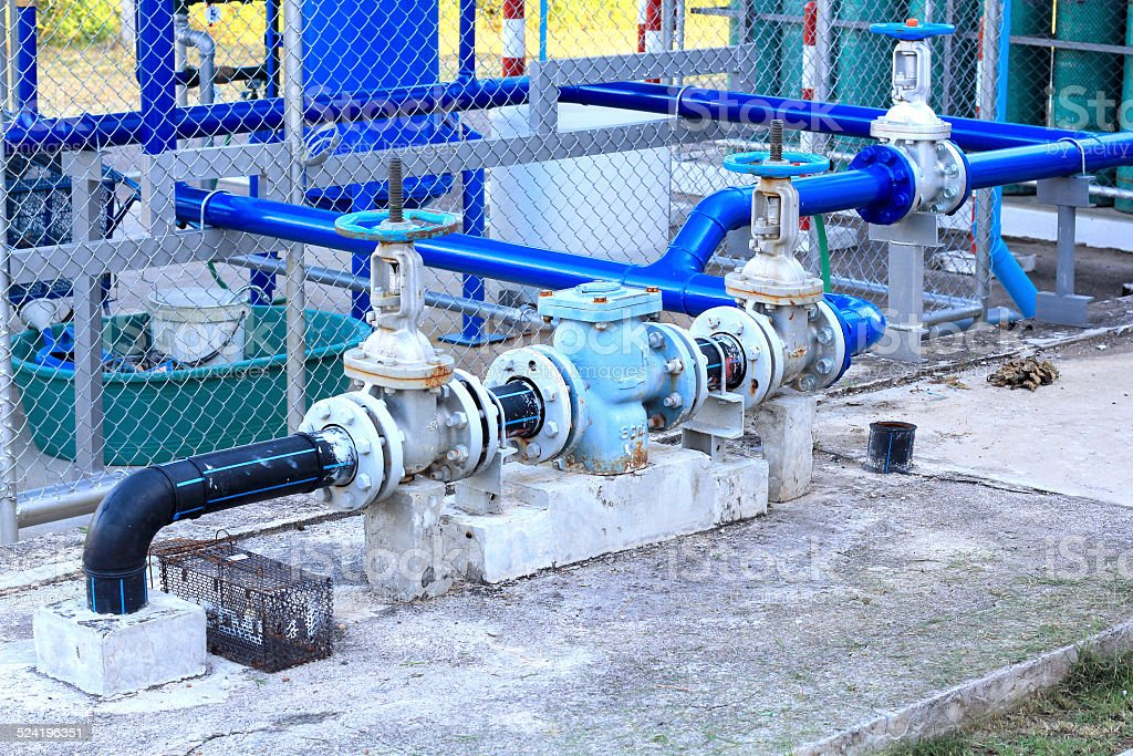 industrial air condition pipes plumbing cooler fire stock photo
