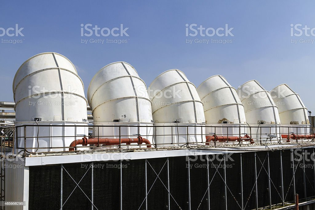 Industrial air conditioner on the roof royalty-free stock photo